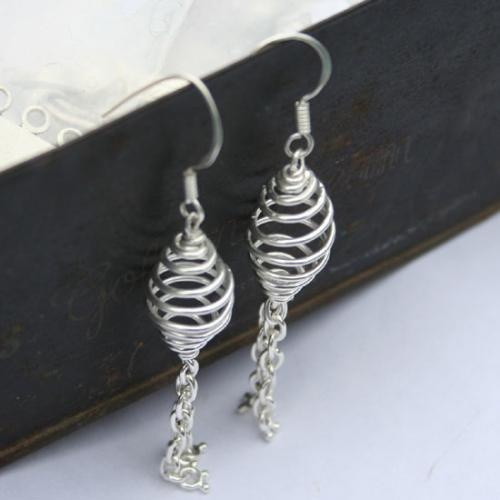 Spiral Dangle Silver Earrings  http://www.legendartbeads.com/product/collection-2012/animals-silver-earrings