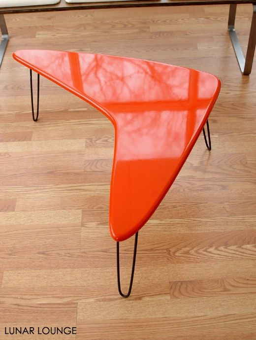 Boomamid coffee table Mid Century Atomic by lunarloungedesign  I actually have this in blue!