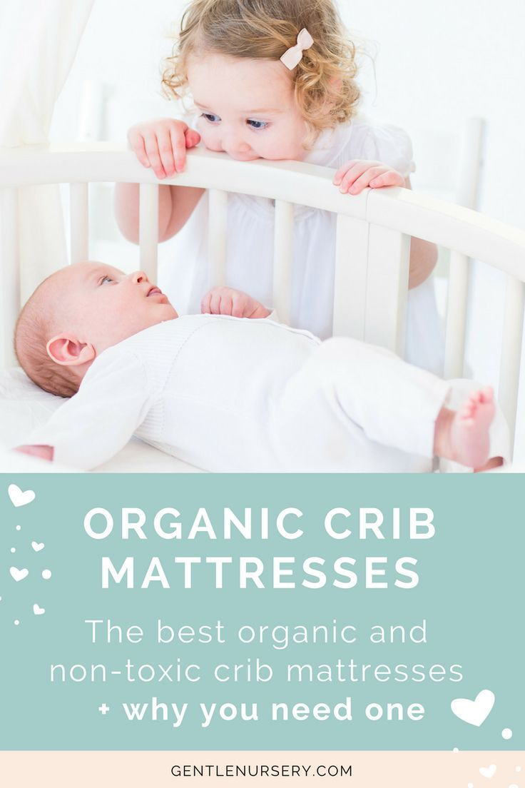 A crib mattress is an important investment in your baby's health and safety. Shop only non-toxic organic crib mattresses to avoid toxic chemicals, flame retardants, and off-gassing. This easy guide outlines the best mattresses, what they're made of, and what to look out for. Choose a healthier mattress for safer sleep! via @gentlenursery #organicmattress