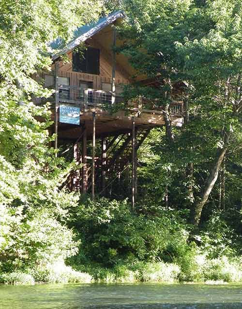 Tree Top Hideaway at Missouri Treehouse Cabins, Dora, Mo.