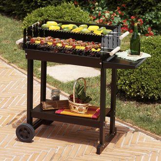 barbecue charbon de bois cuve t le sur chariot 15 personnes copenhague noir en solde 100. Black Bedroom Furniture Sets. Home Design Ideas