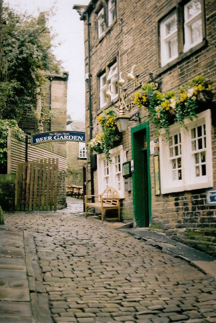 village of Haworth, in the City of Bradford metropolitan borough of West Yorkshire, England. The Bronte sisters wrote most of their novels while living in Haworth.   by emilyharriet, via Flickr