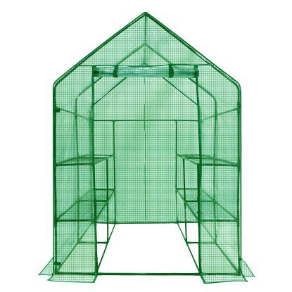 Maybe for starters... Ogrow Deluxe Walk-In Greenhouse with Cover - 2-Tier 8-Shelf