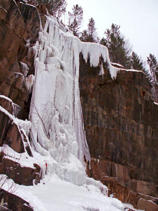 Icefall  Abandoned granite quarry, Krasnoyarskie Stolby, Krasnoyarskii krai, Siberia | Сиенитовый карьер, Красноярские Столбы, Красноярский край, Сибирь | photo by Toth | 2015