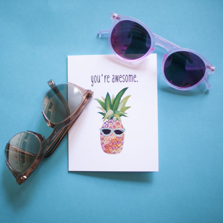 YOU'RE AWESOME - Ella's Cards A2 Size $5/each