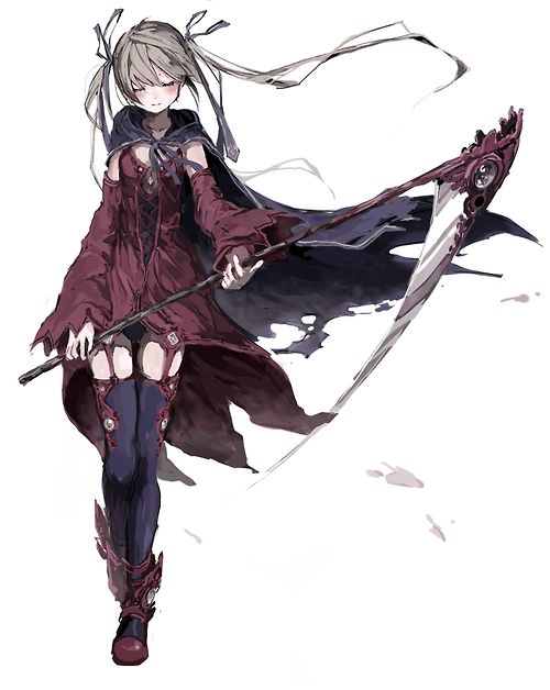 I wonder who's in her hand. It's definitely not Soul, maybe it's what she looks like as a weapon...