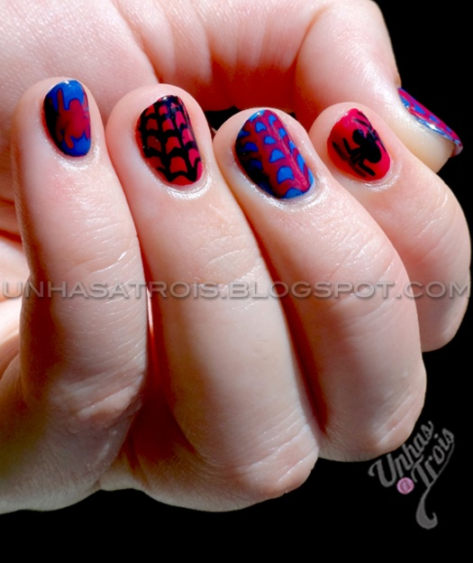 26 best spider man nails images on pinterest enamel enamels and amazing spiderman nails prinsesfo Choice Image