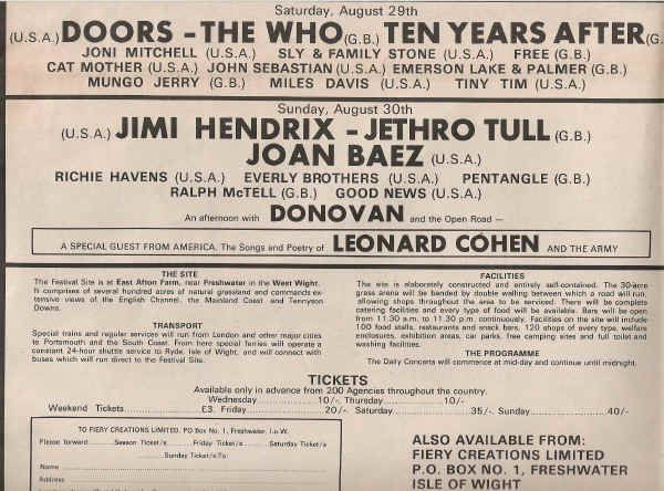 August 1970.......notice the weekend ticket price...£3 OMG, and look at how much they are charging now!!!!!