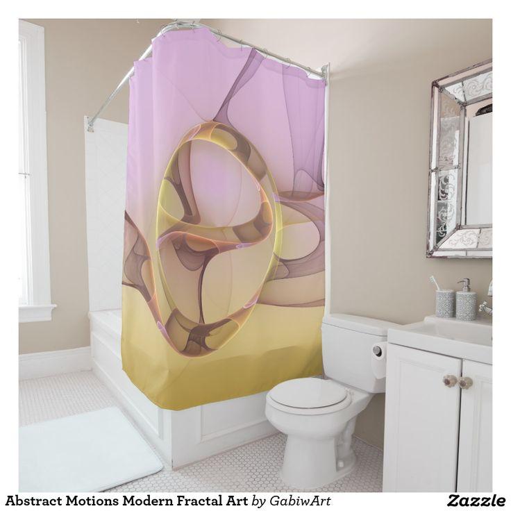 Abstract Motions Modern Fractal Art Shower Curtain