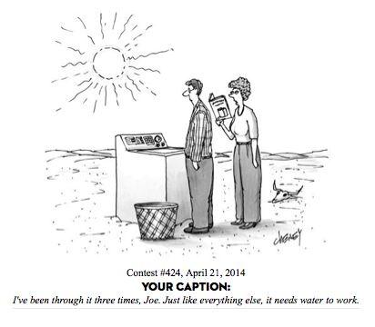 how to write a cartoon caption new yorker