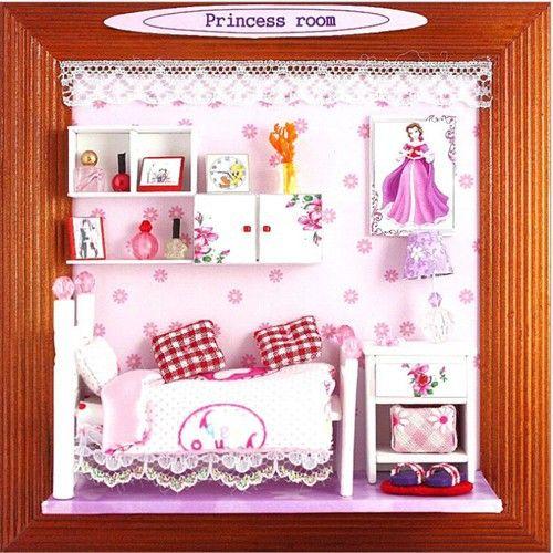 Diy Priness замок дом миниатюра фоторамка серии мебель комплект рождество подарок бесплатная доставкакупить в магазине Home and GardenнаAliExpress