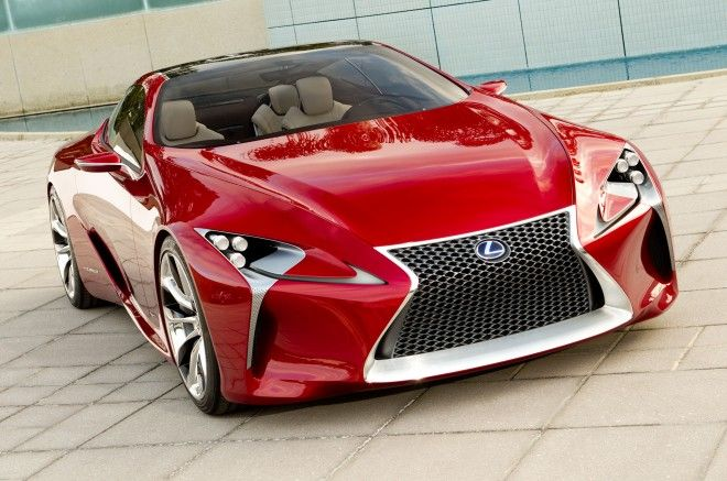 Lexus LF-LC Hybrid 2+2 Concept   A company with a design ethos perhaps best described as visual Valium, is rolling into the Detroit auto show with a drop-dead gorgeous sports coupe. Not just any sports coupe, mind you, but a hybrid sports coupe. An exciting hybrid sports coupe.
