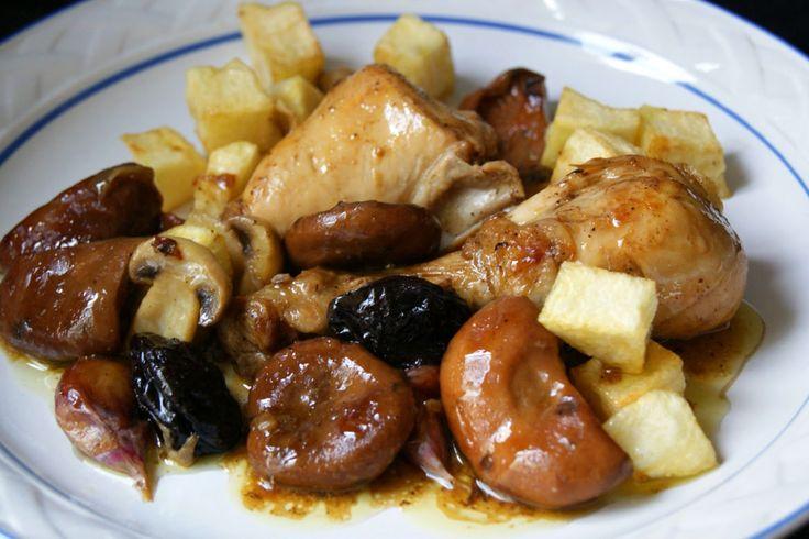 Anna recetas fáciles: Pollo rustido con setas
