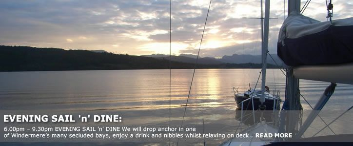 Sail n Dine sailing on windermere - a perfect combination