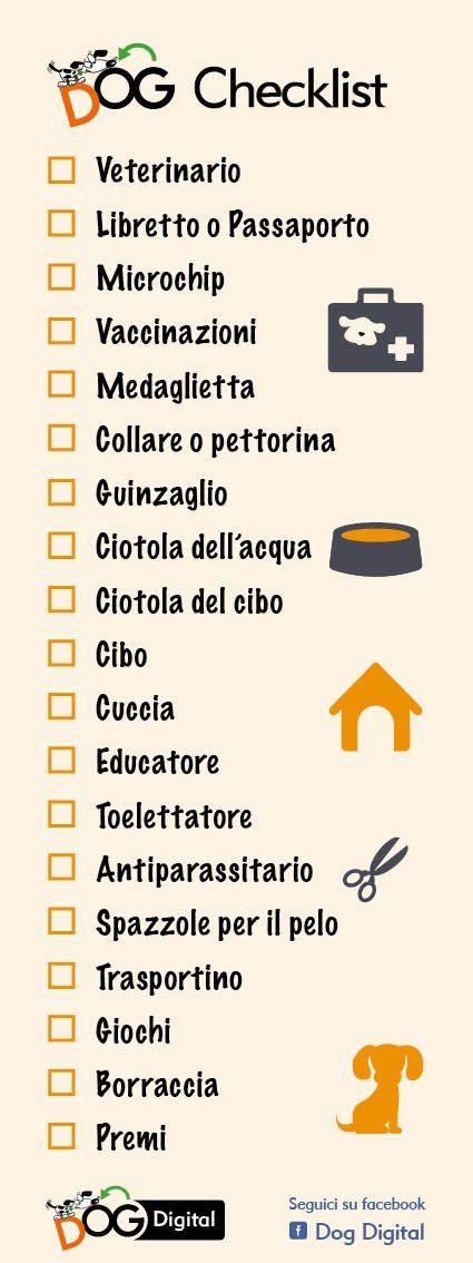 #infografica #dog checklist