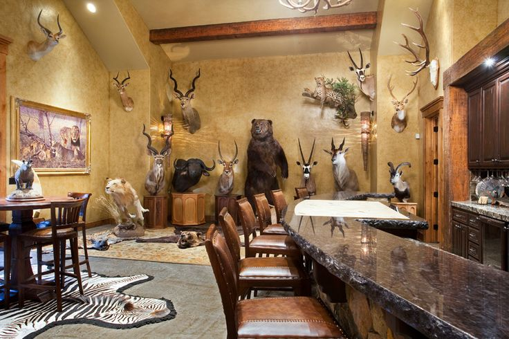 Not sure there are enough carcasses in this trophy room. Sigh....gross