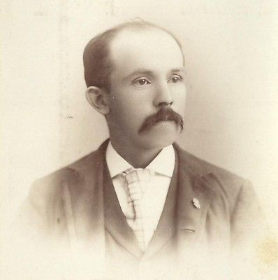CABINET PHOTO GENTLEMAN THICK LONG MUSTACHE DOVER N.H.