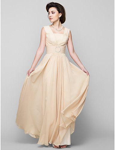 Lanting Bride® Krój A Sukienka dla matki panny młodej Sięgająca podłoża Bez rękawów Szyfon - Koraliki 2984524 2017 – €78.39