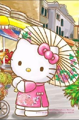 Hello Kitty Japan Counted Cross Stitch Pattern PDF ~EMAIL ONLY~
