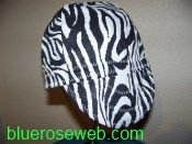 zebra pattern welding cap, QuiltingB's Custom Made Welding Caps