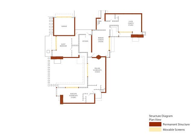 Floor Plan And Elevation Of A Two Storey House : Schindler house floor plan home design and style