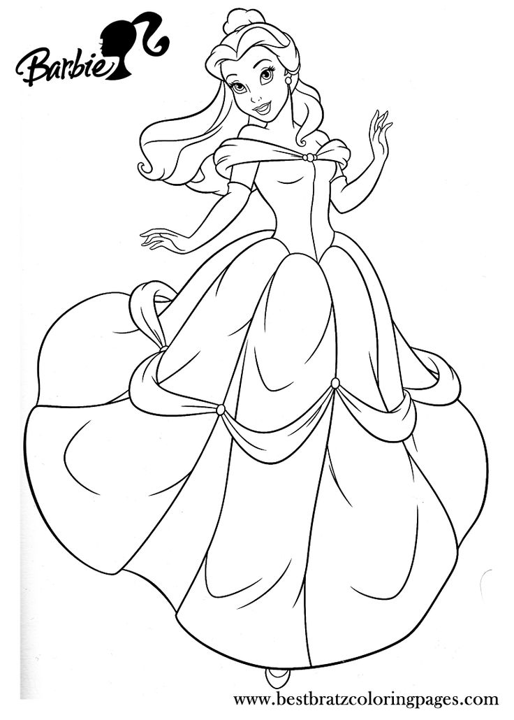 bratz and princesses coloring pages - photo#25
