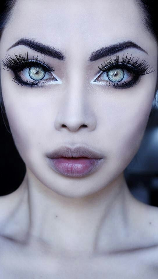 CRAZY! but shows how to make your eyes appear larger.