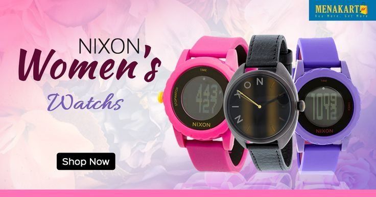 New arrival #Nixon watches for women's online #Watches #Fashion #Online #Shopping #Menakart #NixonWatches