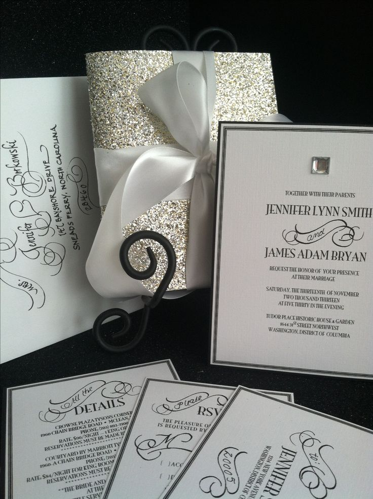 mini book wedding invitations uk%0A Glamorous wedding invitation  Vintage inspired with hand written  calligraphy accents  Please visit and
