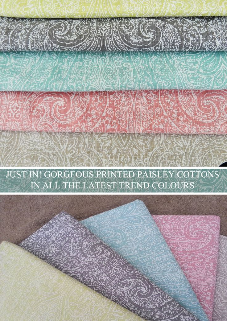 Gorgeous paisley prints in a variety of the latest trend colours. In store at The Fabric House CT now.