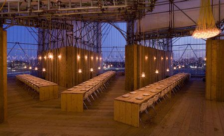 Studio East Dining by Carmody Groarke raw timber