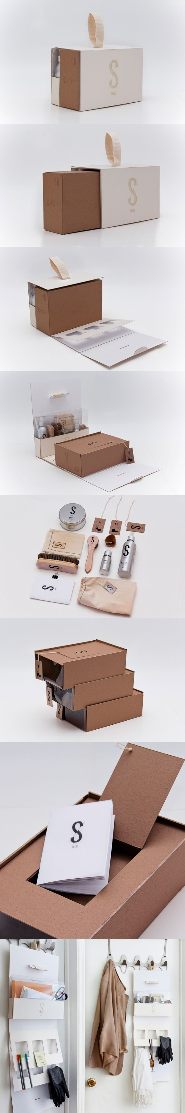 "SKINS Shoe shine ""Box""/Organizer Concept by Jiani Lu 