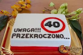 Znalezione obrazy dla zapytania tort na 40
