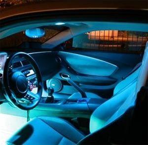 23 Interior led lights to a car