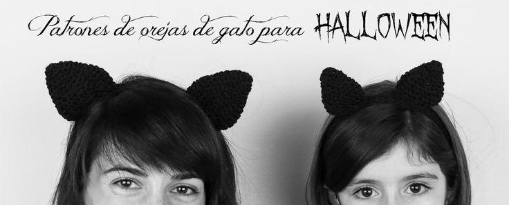 Halloween: patrón gratis orejas de gatowww.manualidadesytendencias.com #halloween #trícot #tejer #weareknitters #knitting #crochet #diy #tejer #disfraz #orejas #gato