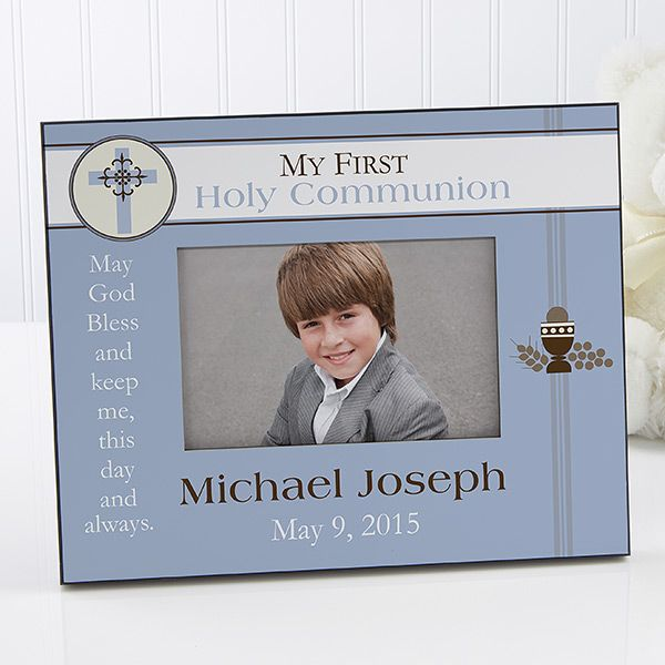 9738 - A Boy's First Communion Personalized Frame