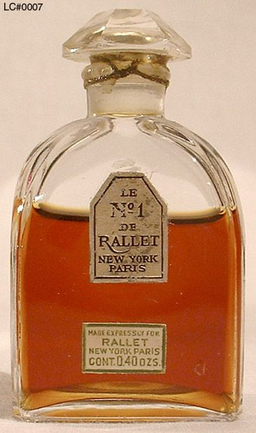 Rallet No I perfume.Rallet, founded 1843 in Moscow by Alphonse Rallet (1819–1894), had become, by 1900, Russia's preeminent manufacturer of fine perfume, soap, and cosmetics and was an official supplier to the royal courts of Russia, Persia, and Montenegro. In