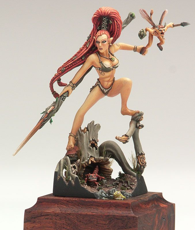 Wood Elf Forest Dancer Aloe-Wrynn converted and painted by Todd Swanson