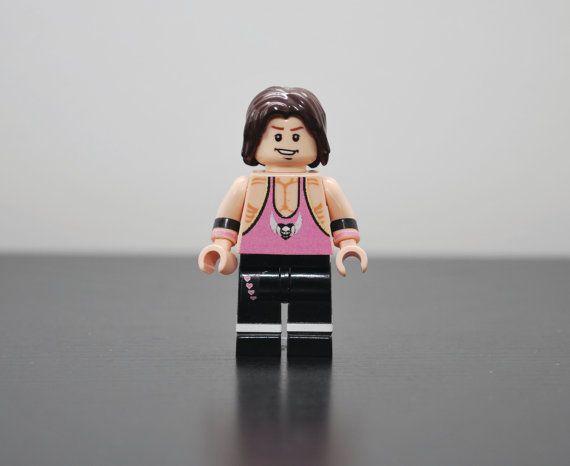 Custom Minifigure BRET HITMAN HART Wrestling by MiniMenMinifigs, $28.99