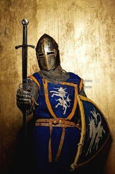 espada medieval: Caballero medieval
