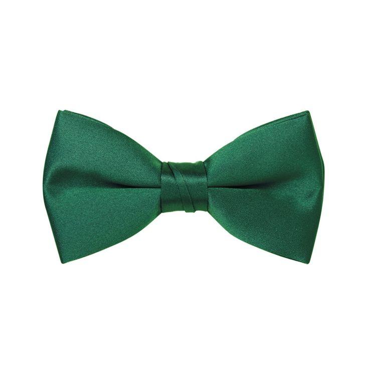 Men's Satin Emerald Green Pre-Tied Bow Tie