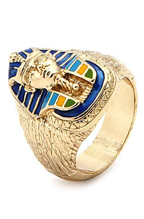 Gold 3D King Tut Men's Ring by King Ice use rep code: OLIVE for 20% off!