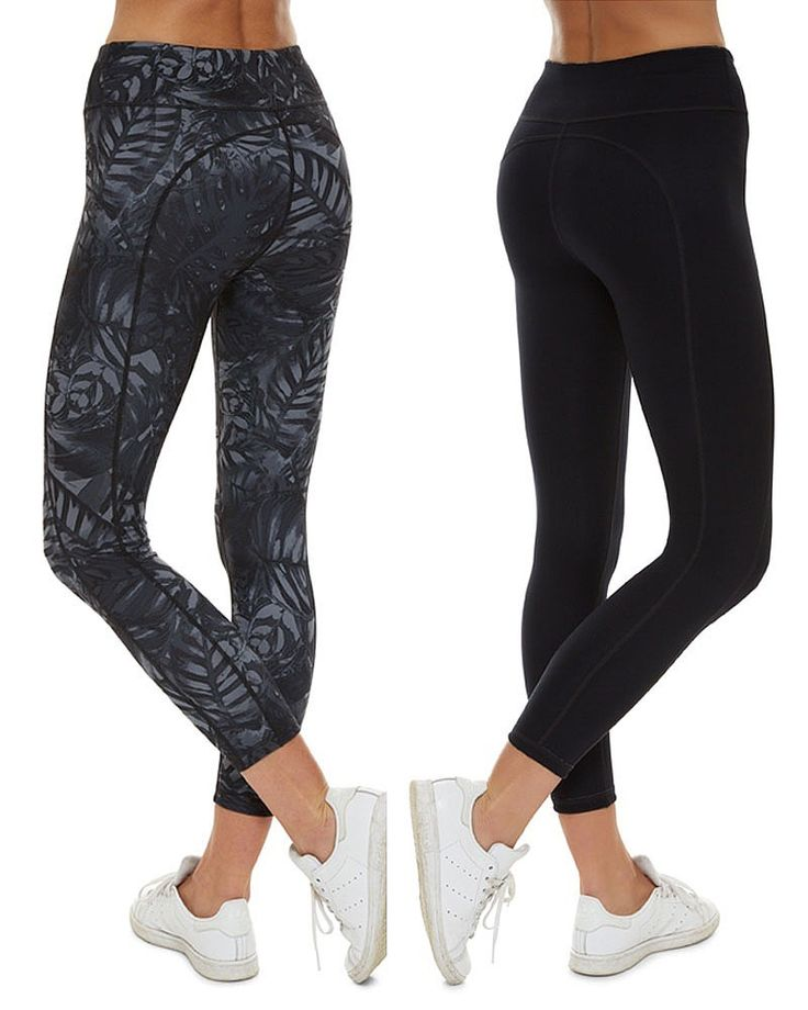 Introducing new reversible printed leggings. Super soft and high-stretch, they are so comfortable you may not want to take them off. Fully opaque both printed and black side out, the interlock knit fabric is flattering in and out of the studio for yoga, Pilates and more.