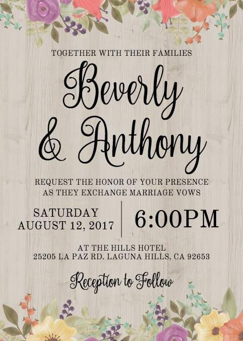Free Electronic Wedding Invitations Templates