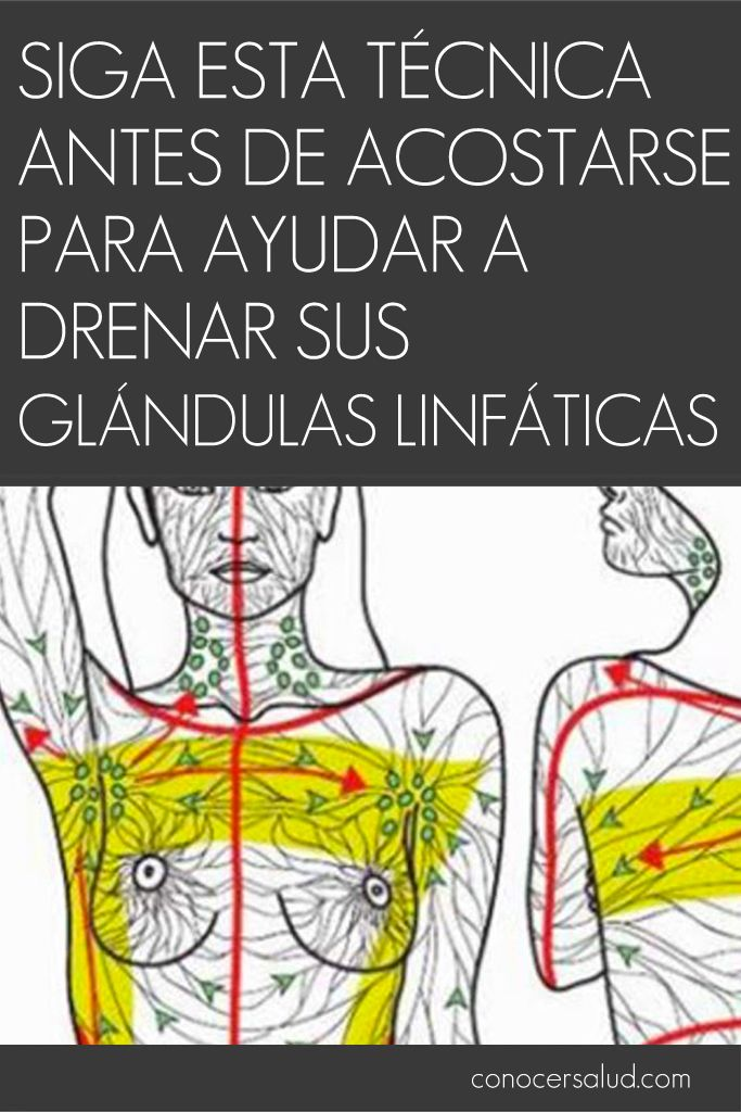 Siga esta técnica antes de acostarse para ayudar a drenar sus glándulas linfáticas #salud
