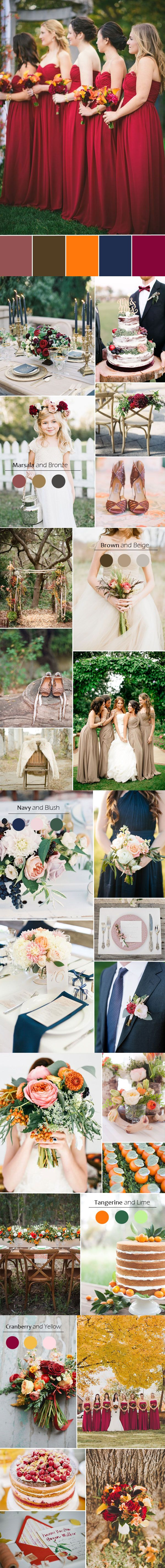 top 5 fall wedding color ideas and bridesmaid dress trends for season 2015
