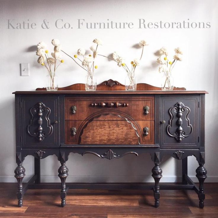 Black Antique Furniture best 25+ painted buffet ideas on pinterest | refinished buffet