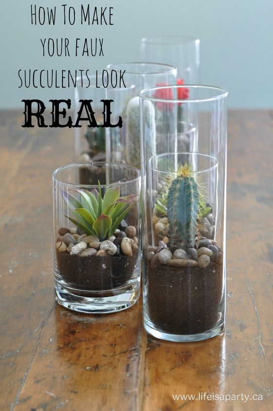 How To Make Your Faux Succulents Look Real Faux