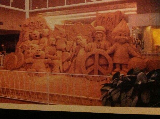 Sand sculpure in edgewater mall in biloxi gulfport mississippi