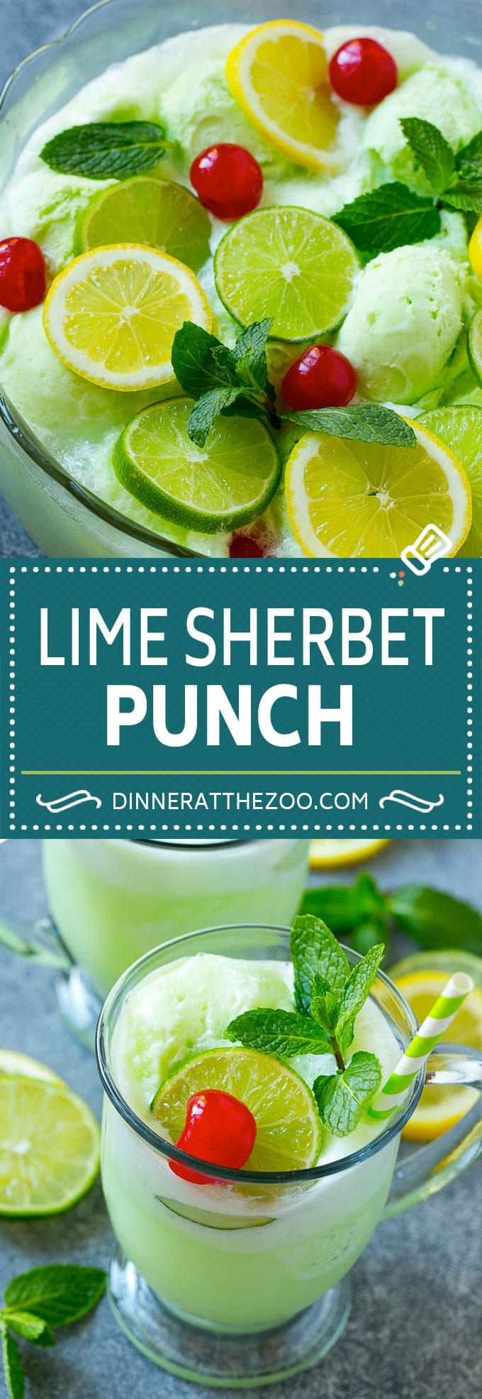 Lime Sherbet Punch | Party Punch Recipe | Sherbet Punch Recipe | Limeade Recipe